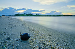 Beach at sunset. South East Asia beach during sunset Stock Image