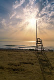 Beach and sunset Royalty Free Stock Photography