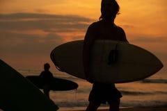 Beach sunset royalty free stock photos
