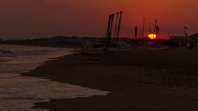 Beach sunset stock video