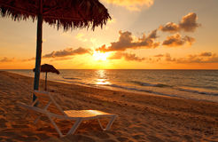 Beach at sunset, Varadero Royalty Free Stock Photography