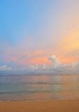 Beach sunset view royalty free stock image
