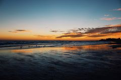 Beach sunsets Royalty Free Stock Photos