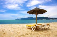 Beach sunshade Royalty Free Stock Photography
