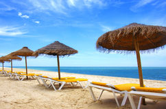 Beach sunshades Stock Photography