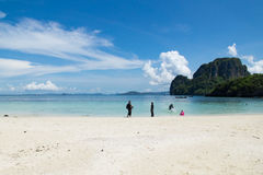 The beach on sunshine day in Thailand Royalty Free Stock Images