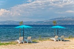 Beach in Supetar on island Brac Royalty Free Stock Image