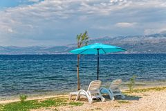 Beach in Supetar on island Brac Stock Photo