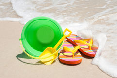 Beach supplies Stock Image
