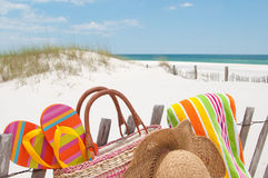 Beach supplies Royalty Free Stock Images