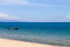 Summer sights of Thailand. Beach in Surat in southern Thailand Royalty Free Stock Photos
