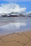 Beach and surf in Australia Stock Photography