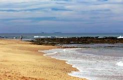 Beach Surf Sand Rocks Stock Photos