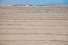 The beach at sutton on sea Royalty Free Stock Image