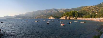 Beach, Sv. Stefan. A quiet beach in Montenegro Stock Photos