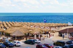 Beach in Sveti Vlas, Bulgaria Royalty Free Stock Photography