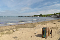 Beach at Swanage in Dorset Stock Photo