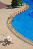 The beach of the swimming pool. Have beautiful poolside lines Royalty Free Stock Images