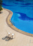 The beach of the swimming pool. Have beautiful poolside lines Royalty Free Stock Photography