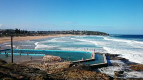 Beach swimming pool @ Freshwater, NSW Australia Royalty Free Stock Photos