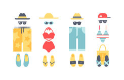Beach swimwear clothing vector illustration. Stock Photography