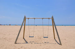Beach swing Stock Image