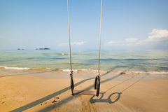 Beach with the swing Royalty Free Stock Photo