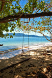 Beach swing Stock Photos
