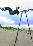 Beach Swinging fun! Royalty Free Stock Photography