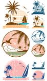 Beach Symbols Royalty Free Stock Images