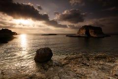 Beach in Syria. Mediterranean Sea Royalty Free Stock Photo
