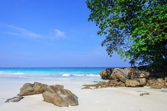 The beach at Tachai island, Thailand Royalty Free Stock Photography