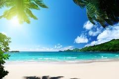 Beach Takamaka, Mahe island Royalty Free Stock Image