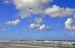 Beach take off Fraser Island Royalty Free Stock Photography
