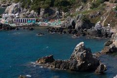Beach In Talamone, Tuscany. Travel Series - Italy. Women's Bathroom beach in Talamone, Tuscany Royalty Free Stock Photography