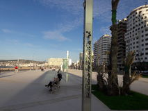 Beach. Tangier beach marina bay 2017 Stock Image