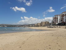 Beach of tangier. May 2017 Morocco Stock Images