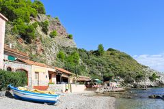 Beach of Taormina, Sicily Stock Photography
