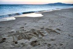 Beach of Tarifa - Spain stock images