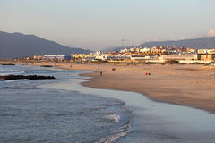Beach in Tarifa, Spain Royalty Free Stock Photos