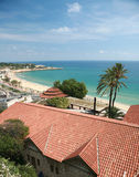 A beach in Tarragona, Spain. Aerial view of a beach in Tarragona in Spain Stock Photography