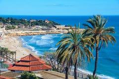 Beach of Tarragona, Spain Stock Photo