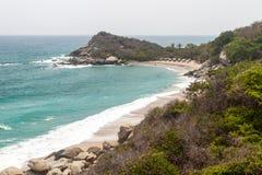 Beach in Tayrona National Park stock photos