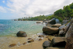 Beach of Tayrona national park, Colombia Royalty Free Stock Photography