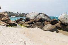 Beach in Tayrona National Park stock photography