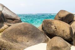 Beach in Tayrona National Park stock image