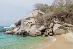 Beach in Tayrona National Park royalty free stock images