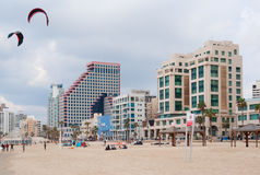 Beach of Tel Aviv. The beach of Tel Aviv, Israel Stock Photography