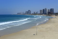 Beach of Tel Aviv Stock Images