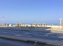 Beach in Tel Aviv, Israel Royalty Free Stock Photos